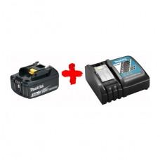 Аккумулятор Makita Li-ion BL1830B + быстрозарядное устройство DC18RC (191A24-4)