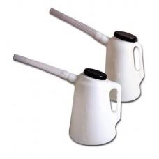 Пластиковая емкость 1 л с гибким носиком и крышкой Groz MSR/P/F-1