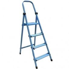 Стремянка металлическая WORK'S 410 (10 ст., синяя) (63277)